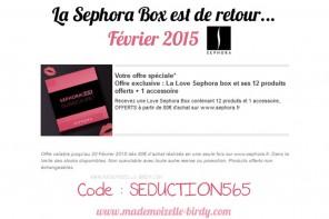 LA SEPHORA BOX FÉVRIER 2015 EST DISPONIBLE