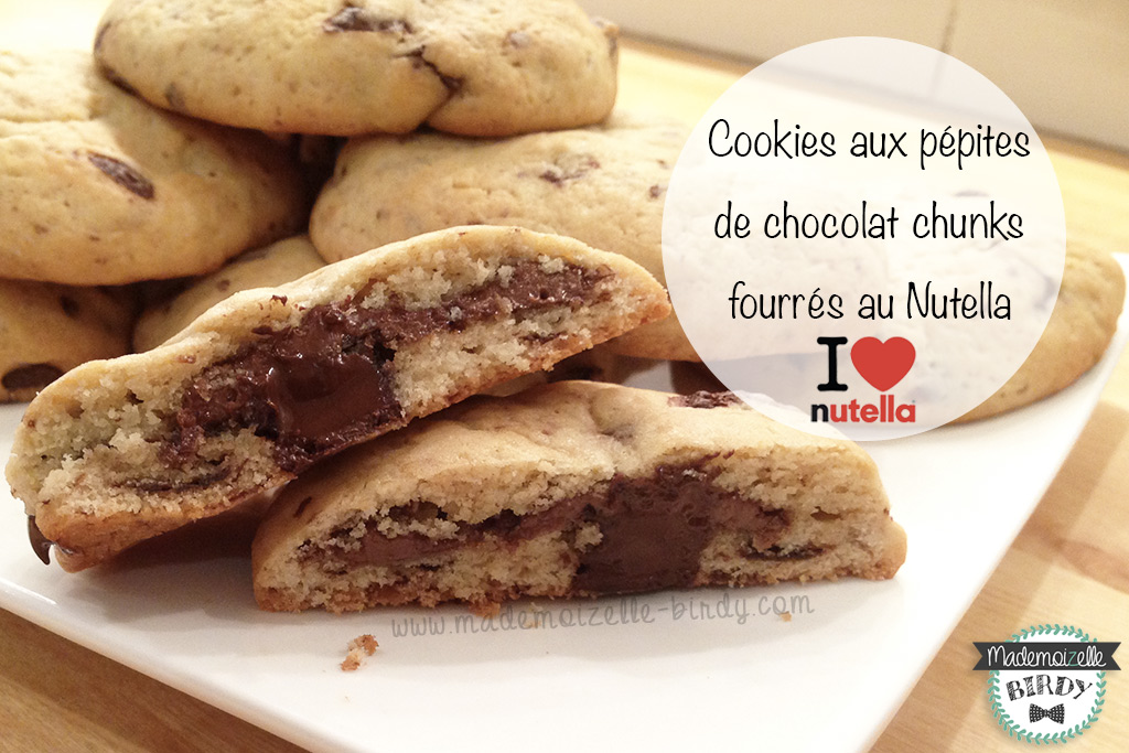recette cookies aux p pites de chocolat chunks fourr s au. Black Bedroom Furniture Sets. Home Design Ideas