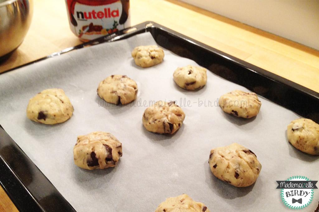 Recette cookie cookies nutella chocolat chunks starbuck fondant coulant cuisine lifestyle - Recette de cookies au nutella ...